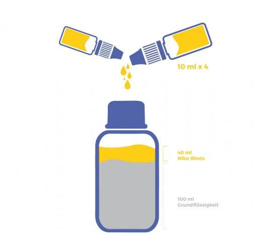 6mg Liquid Base Set mit Nikotin Shots - 140 ml