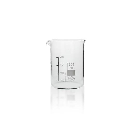 Becherglas Borosilikatglas 3 3 niedrige Form 250 ml mit Teilung und Ausguss
