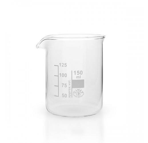 Becherglas Borosilikatglas 3 3 niedrige Form 150 ml mit Teilung und Ausguss