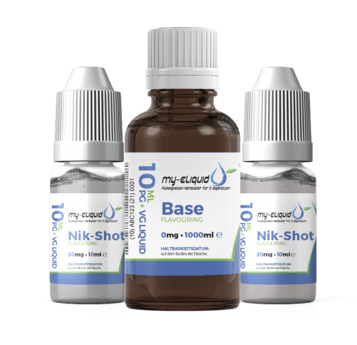 6mg Liquid Base Set mit Nikotin Shots - 1420 ml