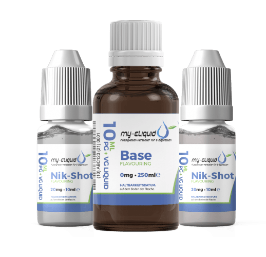 6mg Liquid Base Set mit Nikotin Shots - 360 ml