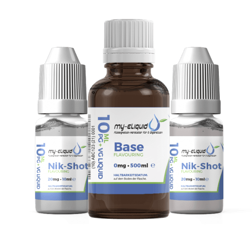 6mg Liquid Base Set mit Nikotin Shots - 720 ml