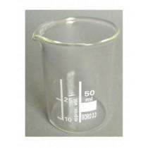 Becherglas Borosilikatglas 3 3 niedrige Form 50 ml mit Teilung und Ausguss