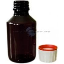 Braunflasche PET 100ml mit Originalitaetsverschluss und Kindersicherung