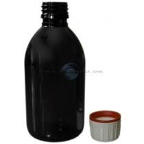 Braunflasche PET 250ml mit Originalitaetsverschluss und Kindersicherung