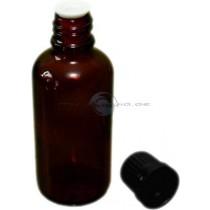Braunglasflasche 50ml mit Giesring und Verschluss Zubehoer eLiquids selbst mischen