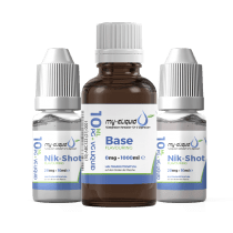 3mg Liquid Base Set mit Nikotin Shots - 1180 ml