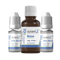 3mg Liquid Base Set mit Nikotin Shots - 290 ml
