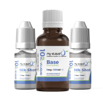 3mg Liquid Base Set mit Nikotin Shots - 590 ml