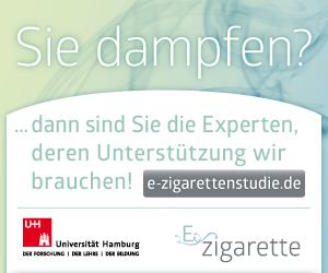 Online Banner der ZIS-Hamburg zur e-Zigaretten Studie