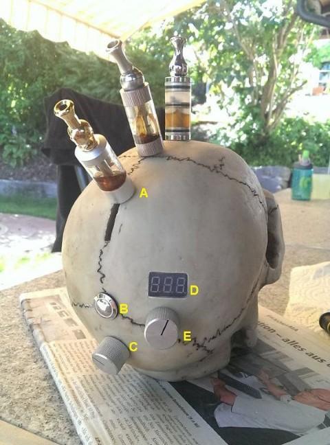e-Zigaretten und Verdampfer Mods - Totenschädel