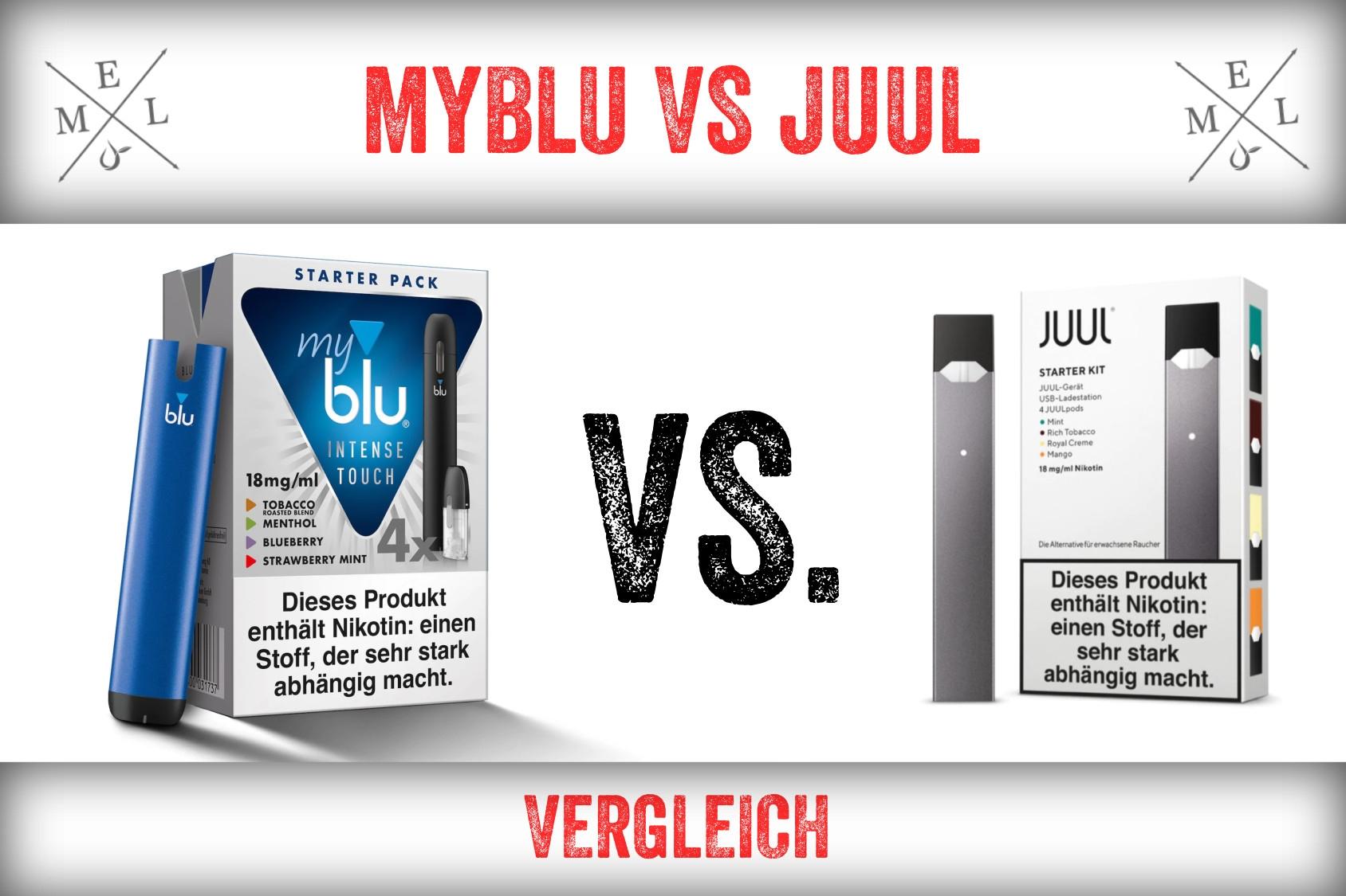 myBlu vs. Juul | Vergleich Testbericht